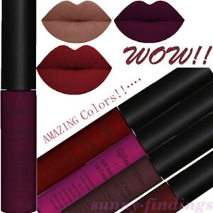 Cosmetic-Soft-Matte-Lip-Cream-Liquid-Gloss-Lipstick-Long-Lasting-Makeup-46Colors
