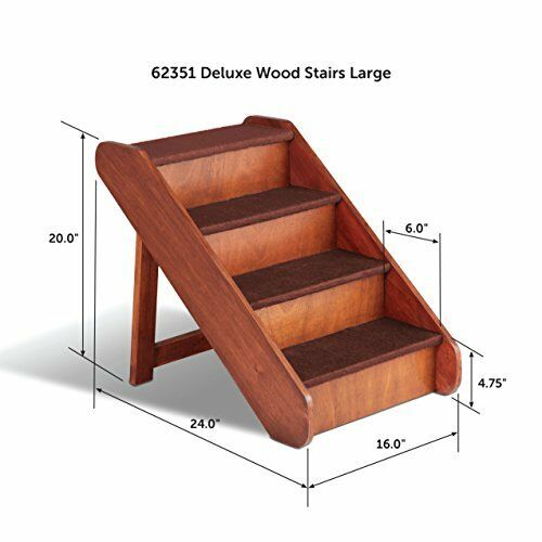 Foldable Wooden Pet Ladder Dog Cat Puppy Stairs Portable Steps Steps Steps Bed Sofa Couch e26d12