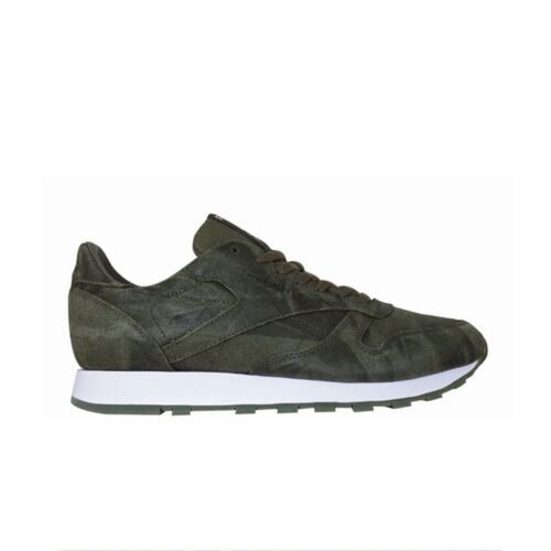 ARMY GREEN//WHITE Men/'s Shoes BS5258 Reebok Classic Leather Cte