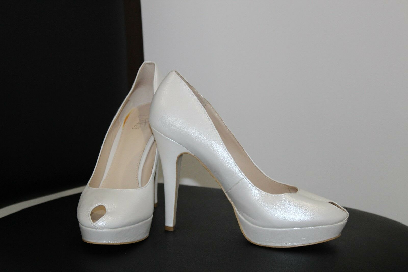 PEARL Wittner High - Heel Peeptoe Shoes - Size 40 - High Brand New!! 01d839