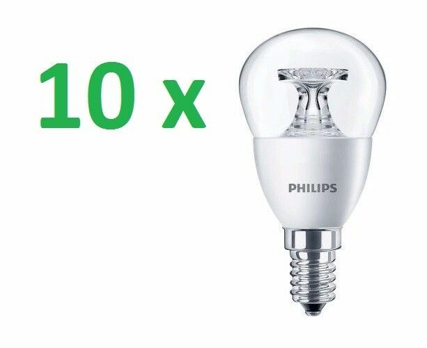 10 x x x Philips CorePro LED LAMPADARIO LAMPADINA A GOCCIA 4W=25W CALDO E14 b26e25