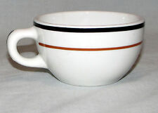 Vintage Restaurant Ware Jackson Vitrified China Cup Black and Brown Stripe