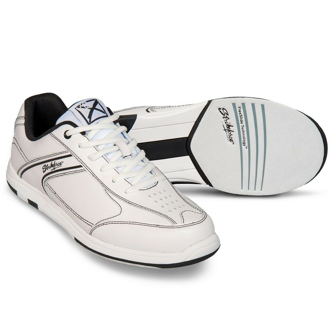 Mens KR Strikeforce White Flyer Bowling shoes Size 7 - 14