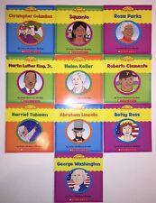Set of 10 Very First Biographies Children's Books Homeschool Grade 1 2 Reading