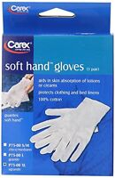 2 Pack Carex Health Brands Soft Hands Cotton Gloves Extra Large 1 Pair Each on sale