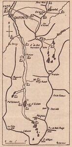 G2322-France-Region-de-Cauterets-Carta-geografica-d-039-epoca-1930-Vintage-map
