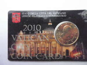 coincard-50centimes-vatican-2010-FDC