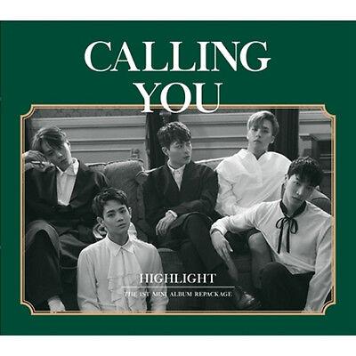 HIGHLIGHT - CALLING YOU 1st Mini Repackage Album CD+Photobook+Card+LyricsPaper