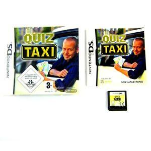 NINTENDO-DS-Jeu-QUIZ-TAXI-emballage-d-039-origine-avec-manuel