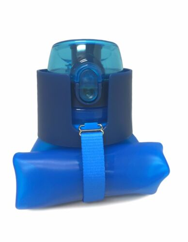 Hoodoo Outdoors Collapsible Water Bottle BLUE BPA Free Pop Top 22 Ounce