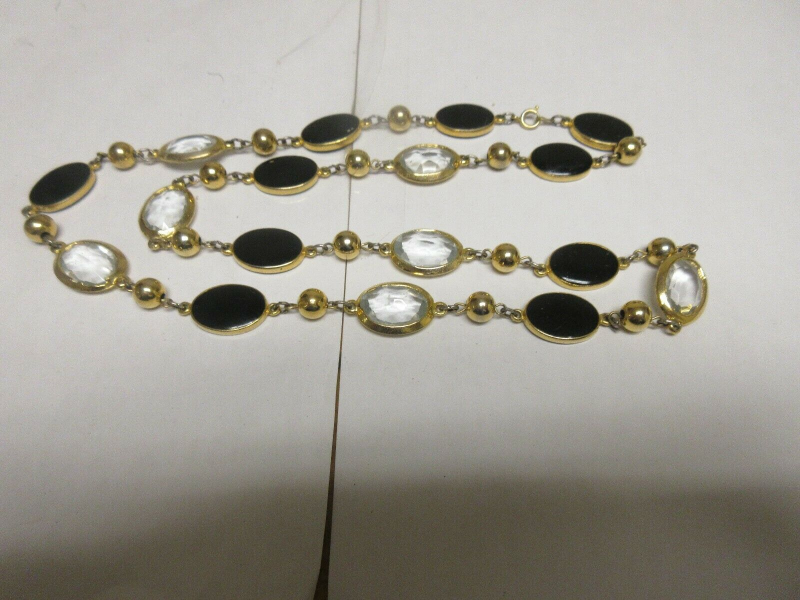 "Costume Jewelry , Vintage , Necklace , 28"" , Gold Beads"
