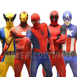 morphsuit superhelden spiderman deadpool iron man kost m karneval marvel billig ebay. Black Bedroom Furniture Sets. Home Design Ideas