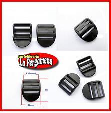 FIBBIA ricambio zaino slider blocco in plastica per spallacci cinghie 2 PZ.