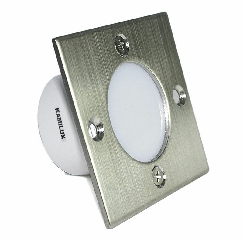 230V LED Wandlicht nur 1,5W Schalterdosen Wand Stufen Treppenlicht Royal S A+
