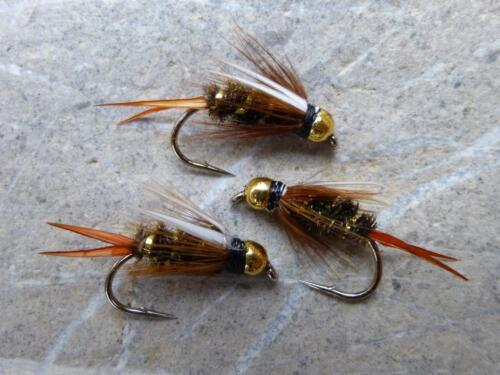 Goldkopf PRINCE Nymphen Top Nymphe Fliegenfischen Forelle Saibling Äsche 4 St
