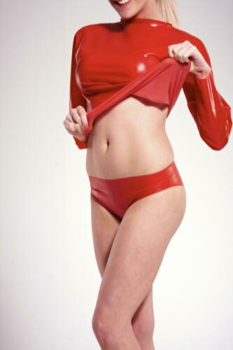 MicheleX-Rouge Latex Rubber Posing Pants UK S M L XL//LC01