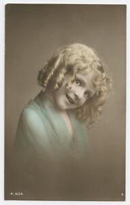1910s-Child-Children-Little-CURLY-HAIRED-GIRL-Blond-British-photo-postcard