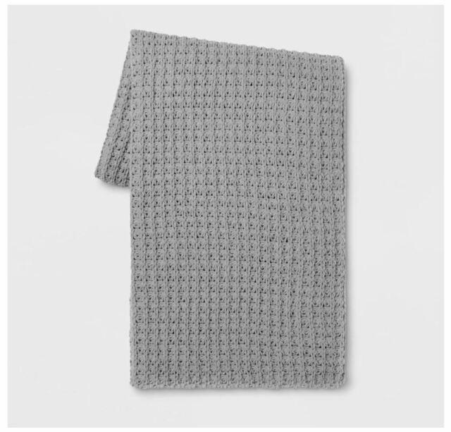 Threshold Cozy Tasseled 50 x 60 in Throw Blanket