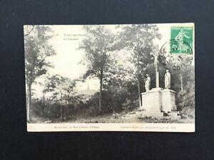 Carte-Postale-Ancienne-de-1913-VELARS-SUR-OUCHE-Le-Calvaire