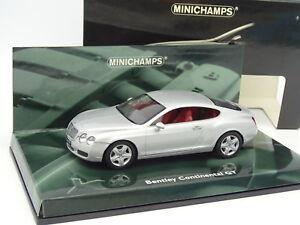 Minichamps-1-43-Bentley-Continental-GT-Silver
