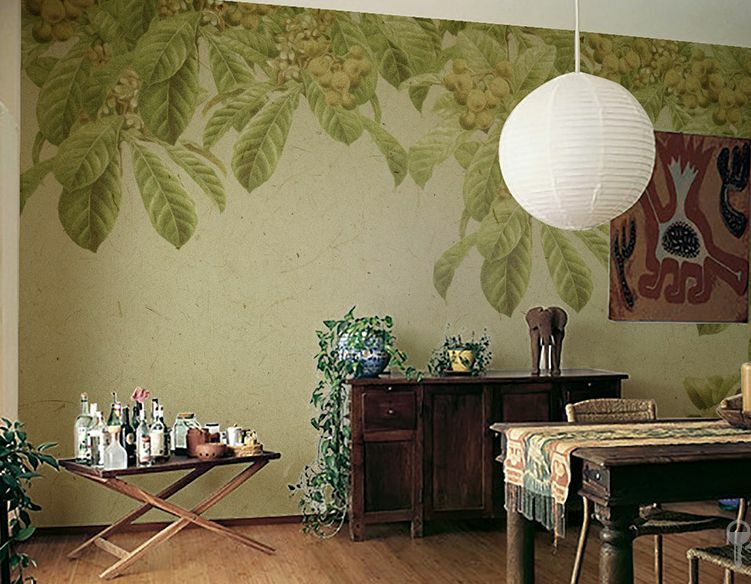 Huge 3D Beautiful Foliage Pattern Paper Wall Print Decal Wall Deco Indoor Murals