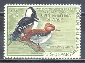 US-Stamp-L1352-Scott-RW35-Mint-HR-OG-Nice-Duck-Hunting-Permit-CV-65