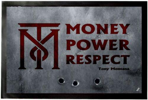 #93052 60x40cm Money Power Respect Tony Montana Fußmatte Türmatte Scarface