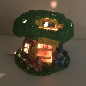 Winnie-The-Pooh-Piglet-MR-SANDERS-Tree-House-Night-Light-Disney-Bedside-Lamp