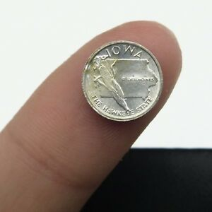 Franklin-Mint-States-of-Union-Miniature-10mm-Sterling-Silver-Coin-Iowa