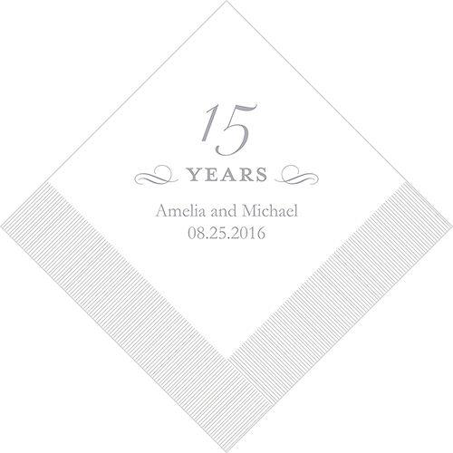 500 Printed 15th Anniversary Birthday Luncheon Napkins