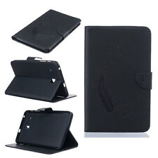 For Samsung Galaxy Tab E 8.0 T377 Black Flip Leather Magnetic Stand Cover Case