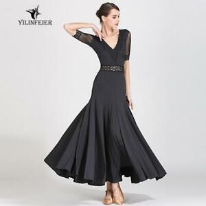 2019-NEW-Ballroom-Competition-Dance-Dress-Modern-Waltz-Tango-Standard-Dress-9056