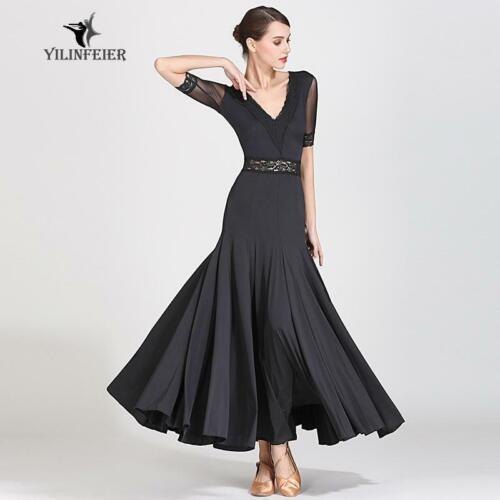 2019 NEW Ballroom Competition Dance Dress Modern Waltz Tango Standard Dress 9056
