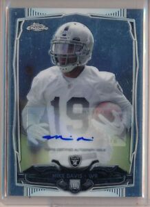 MIKE-DAVIS-2014-Topps-Chrome-Rookie-AUTO-Raiders-RC