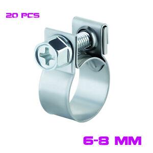 Details about 20 PCS 6-8mm FUEL INJECTION HOSE CLAMP / AUTO Fuel clamps -