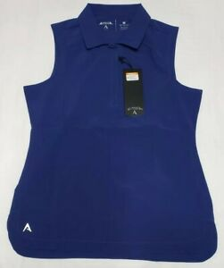 NEW-Antigua-Women-039-s-Sleeveless-Trust-Desert-Dry-Golf-Polo-Shirt-Navy-Blue-Size-M