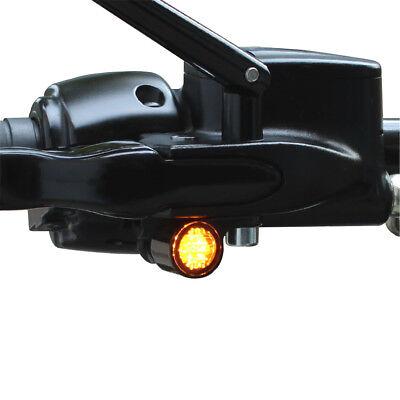 Einbaublinker Positionslicht Lenkerarmatur Harley Davidson Softail schwarz Typ1