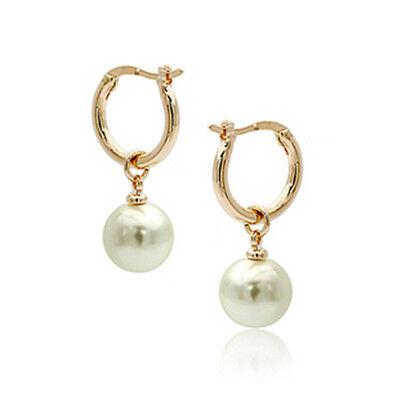 women's jewelry 18 yelllow gold gp southsea shell pearl 10 mm dangle earring