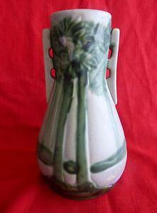 "Roseville unmarked 10"" Vista-bulbeuse double Handled vase arbres de la Forêt - 1920 S-afficher le titre d`origine 9rMV8lYb-09162551-722780913"