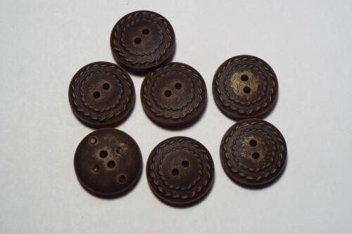10pc 15mm conjunto de cuero marrón oscuro imitación abrigo Cardigan Pantalón Niño botón 2757