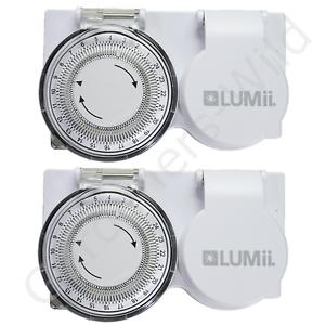 2x Timer PLUG IN 24 ORE Heavy Duty Lumii High Load HID Zavorra CFL luce crescere