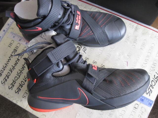 944acc2c5e7 Nike Lebron Soldier IX 9 Premium Men s Size 11 - Grey Black Lava ...