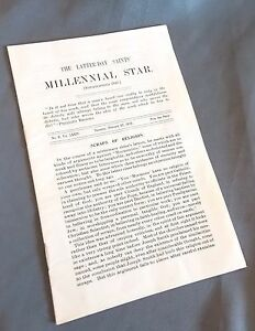Millenial Star February 22, 1912  LDS Mormon News Pamphlet Booklet