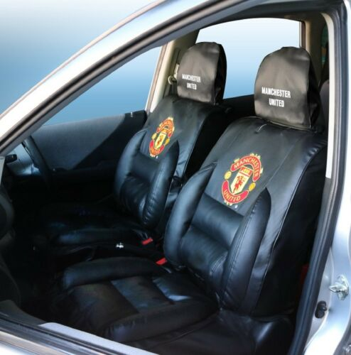 Manchester United Premium Limited Edition Car Seat Covers Black pair. Superb.