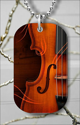 """fw4ij MUSIC INSTRUMENT PIANO DOG TAG NECKLACE 30/"""" FREE CHAIN"""