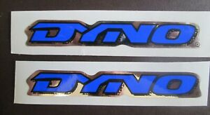 "Set of 2 GT DYNO /""D/"" Stickers frame//fork BLUE//BLACK//CHROME FREE SHIPPING"