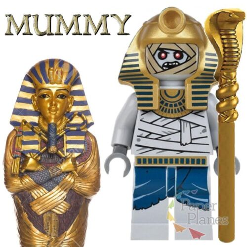 Pharaoh/'s Quest Custom Minifigure MOC Lego Toy Eqyptian Mummy KL049