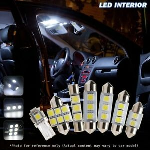 6pcs xenon white car led interior lights package kit for - Toyota tacoma led interior lights ...