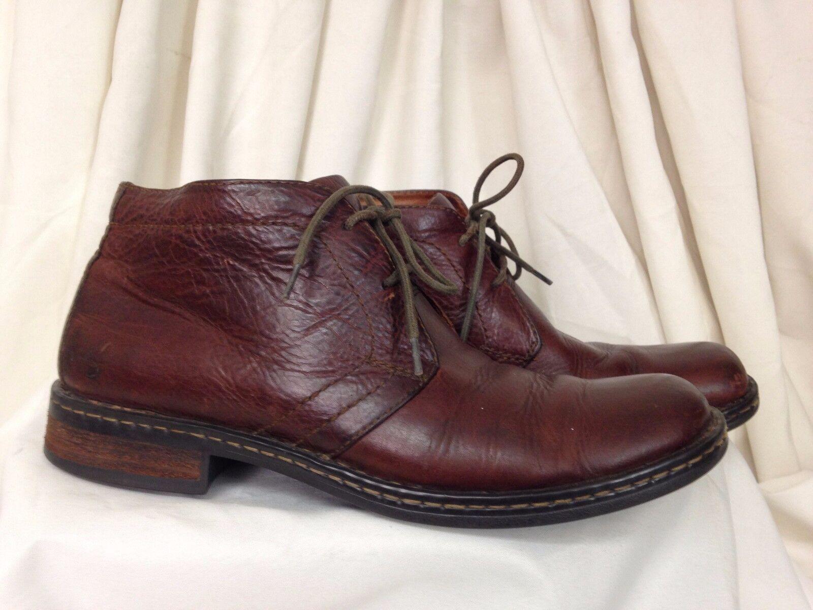 Born Footwear Brown Plain Toe Toe Toe Derby Styling Men's Leather Ankle Boot - US 11.5 d799fc
