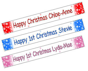 1st Birthday Personalised Photo Name Banner Party Decorations First Matt Paper